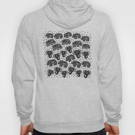 Beautiful pattern Indian Elephant with polka dot ornaments Hoody
