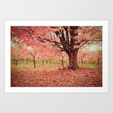 Wind and Leaves Art Print