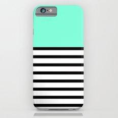 Tiffany Black and White Stripes Pattern Slim Case iPhone 6