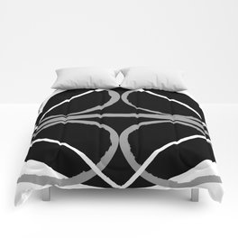 Geometric Unity Centered in a Circle Comforters