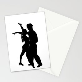Dance with me - Ink Painting Wall Art Home Decor Black and White Music Illustration Dance Salsa Stationery Cards