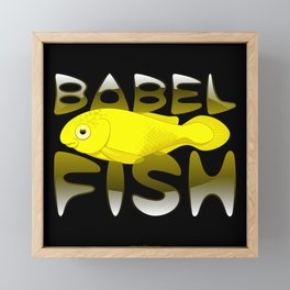Babel fish Framed Mini Art Print