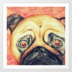 Grunt The Pug Art Print
