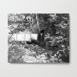 Final Resting Place Vintage Truck Metal Print