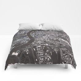 Budapest - city map Comforters