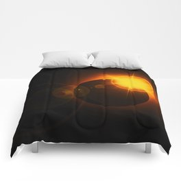 Total  Eclipse Astro Photography Comforters