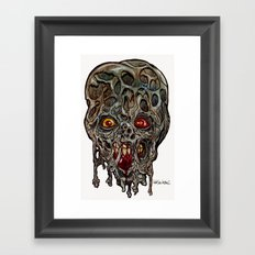 Heads of the Living Dead  Zombies: Layers Zombie Framed Art Print
