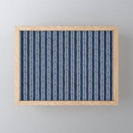 Mud cloth - Navy Arrowheads Framed Mini Art Print