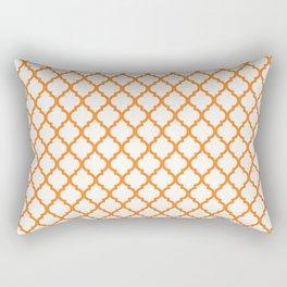 Orange Quarterfoil Rectangular Pillow