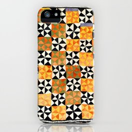 North Afghanistan Cotton Quilt Print iPhone Case