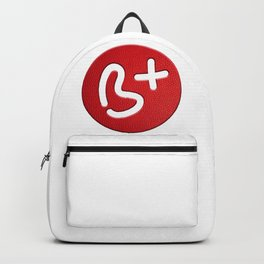 My Blood Type: Be positive Backpack