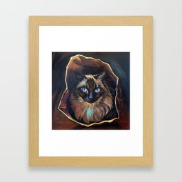 The Ragdoll Cat Is in the Bag Framed Art Print
