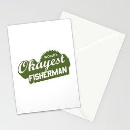 World's Okayest Fisherman Stationery Cards