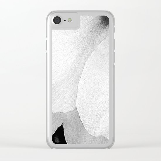 Flower   Flowers   White Petals   Macro Nature Clear iPhone Case