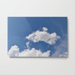 la nube Metal Print