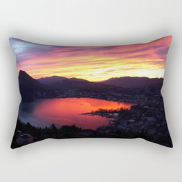 Sunset in Lugano Rectangular Pillow