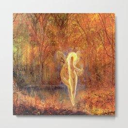 Dame Autumn by John Atkinson Grimshaw Metal Print