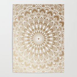 Gold Mandala 19 Poster