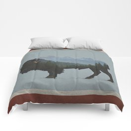 Wyoming Bison Flag Comforters
