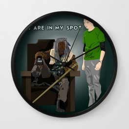 You are in my spot Wall Clock