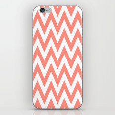 Chevronzag in Coral iPhone & iPod Skin