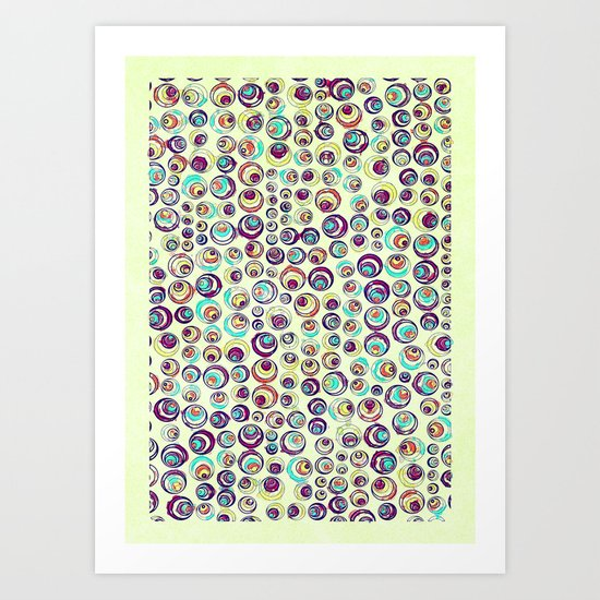 Retro Balls Art Print