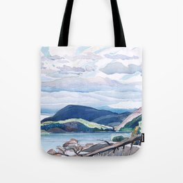 Franklin Carmichael - Lake and Hills - Canada, Canadian Watercolor Painting - Group of Seven Tote Bag