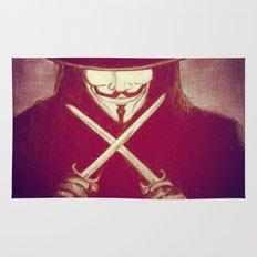 V for Vendetta4 Rug