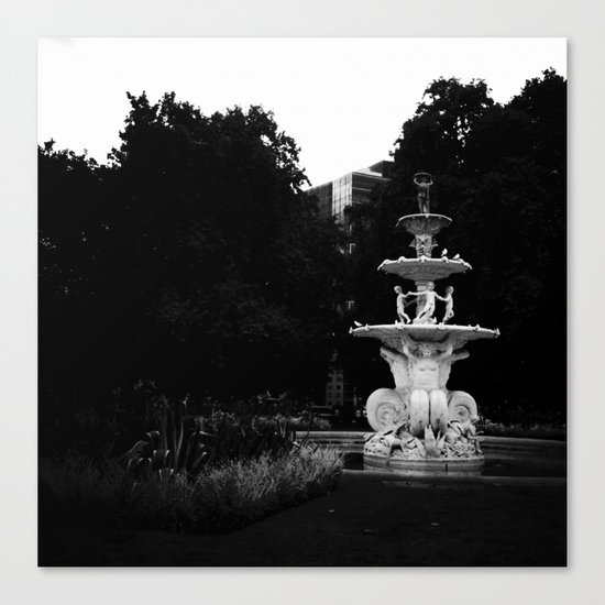 City Fountain Canvas Print