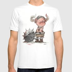 Cochon barbare SMALL Mens Fitted Tee White