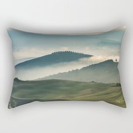 Pretty foggy morning in Toscany Rectangular Pillow