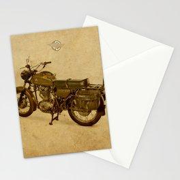 Ducat Condor 350 Militare 1973 old motorcycle militar war bike Stationery Cards