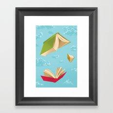 Falling Leaves Framed Art Print