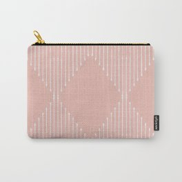 Geo / Blush Carry-All Pouch