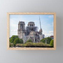Notre Dame de Paris, the day after the fire Framed Mini Art Print