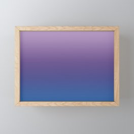 Ultra Violet Blue Lilac Ombre Gradient Pattern Framed Mini Art Print