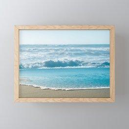 Blue Sea Backdrop Framed Mini Art Print