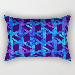 Cosmic blue watercolor bright print. Rectangular Pillow