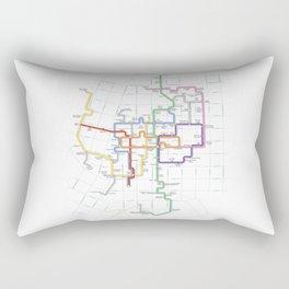 Minneapolis Skyway Map Rectangular Pillow