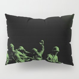 Plastic Army Man Battalion Black and Green Pillow Sham