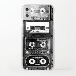 Something Nostalgic - black and white #decor #buyart #society6 Clear iPhone Case
