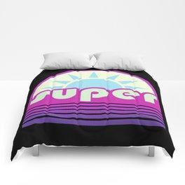super duper ultraviolet Comforters