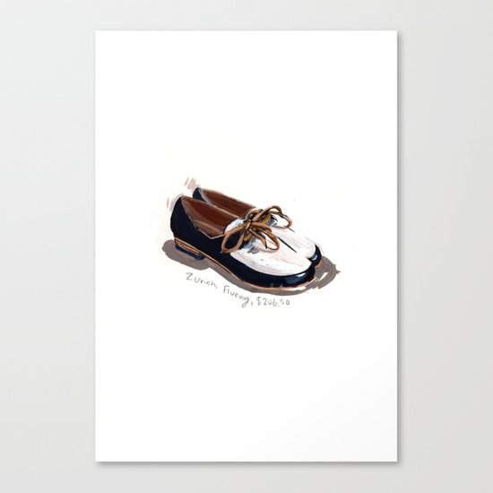 Fluevog Loafers Canvas Print