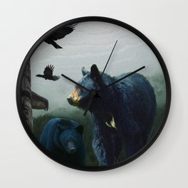 The Sacred Trail of the Great Bear Wall Clock