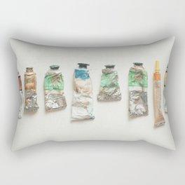 Oil Paints Rectangular Pillow