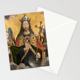 """Hans Memling """"Christ with Singing and Music-making Angels"""" Stationery Cards"""