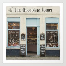 The Chocolate Corner - Bruges Photography Art Print