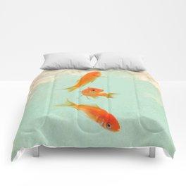 Goldfish in the sky Comforters