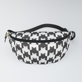 Cats Dog Tooth Pattern Fanny Pack