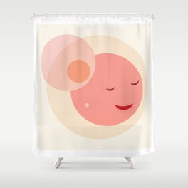 Miss Sunshine in a hat Shower Curtain